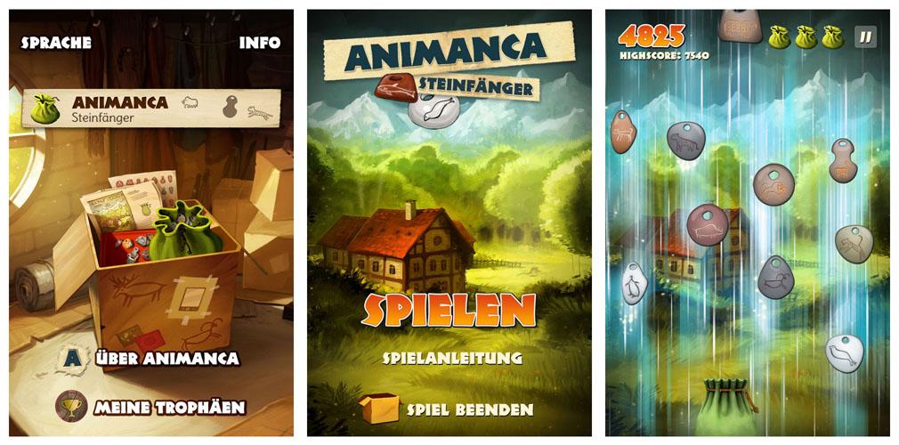 Animanca app game screens