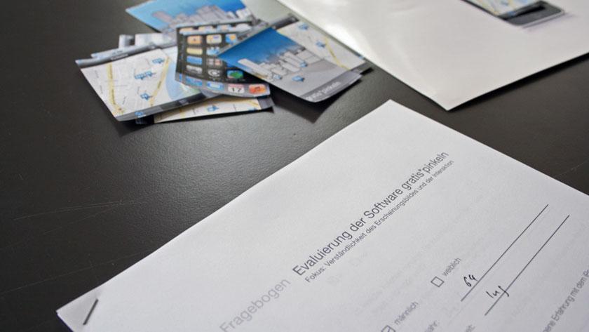 Evaluation via paper prototyping