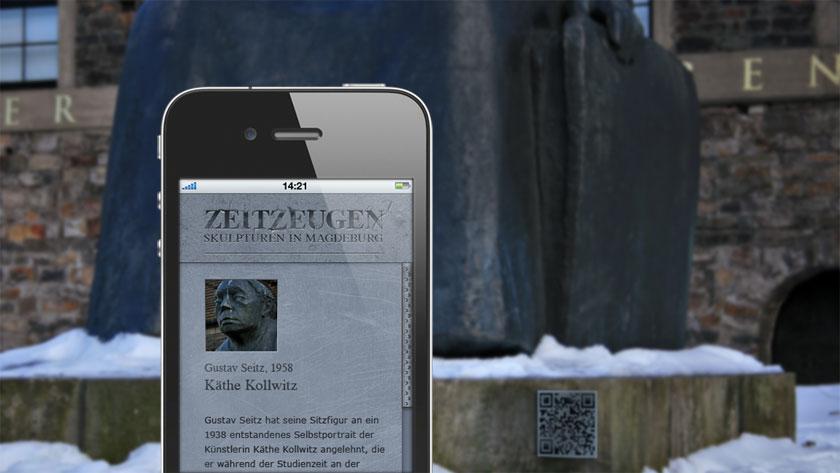 mobile information via QR code